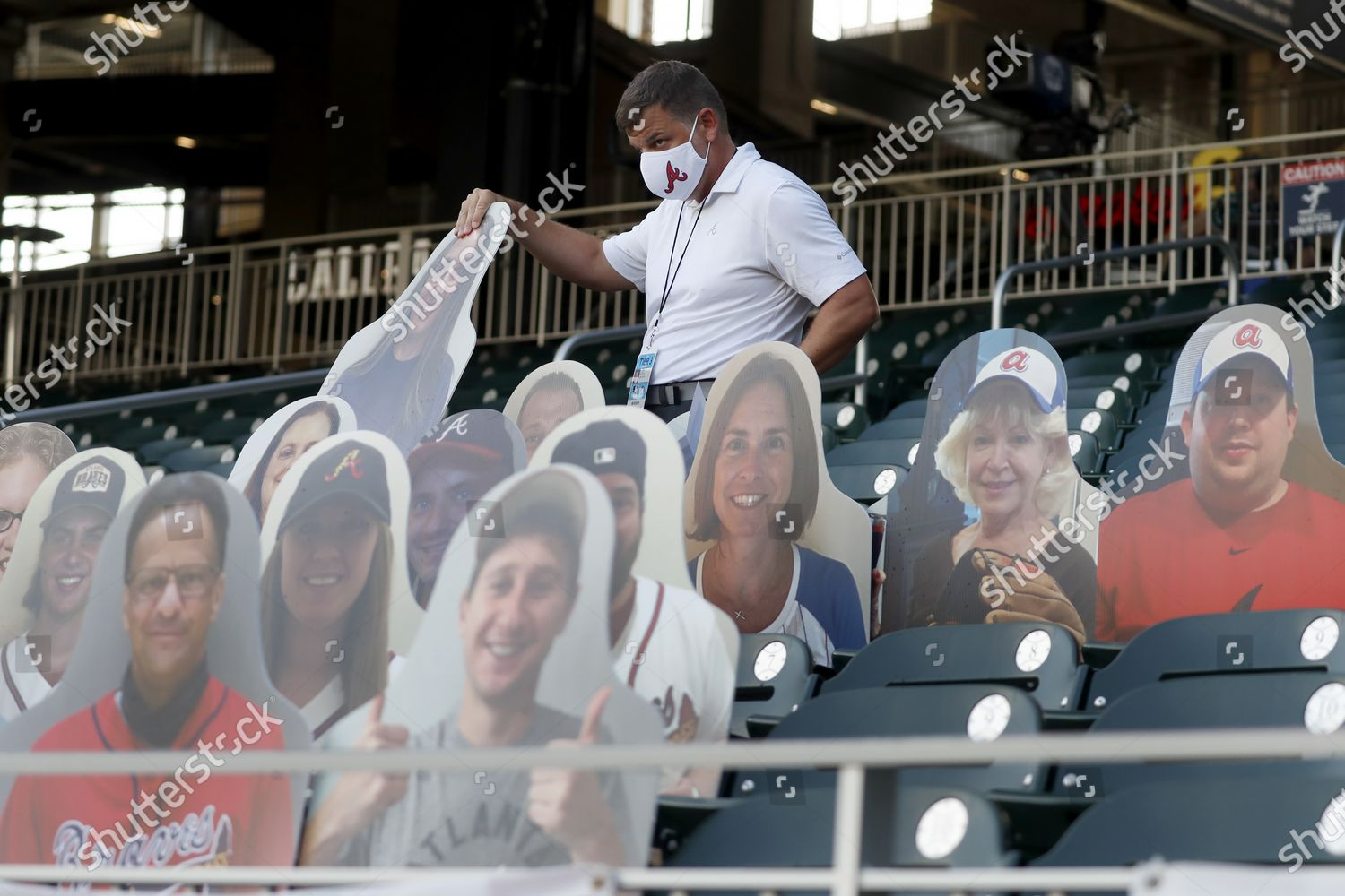 Atlanta Braves Employee Places Cardboard Cutouts Fans Editorial Stock Photo Stock Image Shutterstock