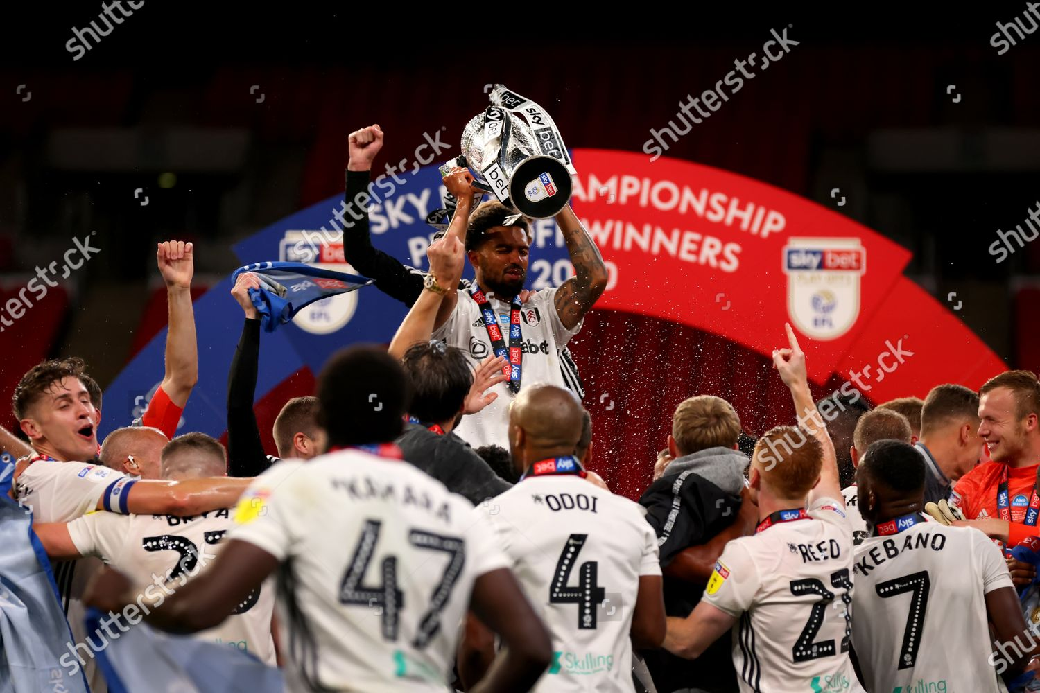 Cyrus Christie Fulham lifts EFL playoff final Editorial Stock ...