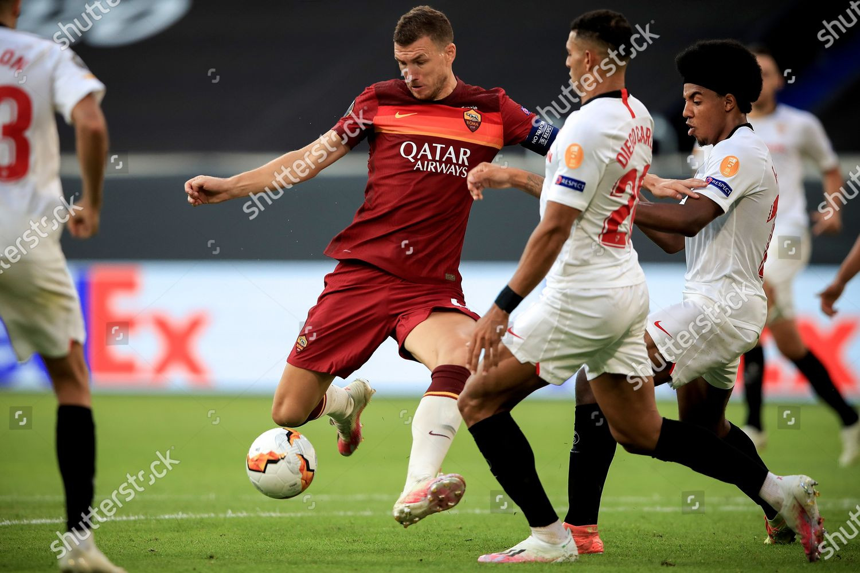 Romas Edin Dzeko C Action During Uefa Editorial Stock Photo Stock Image Shutterstock