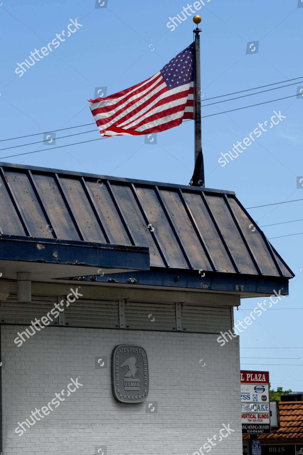 Is The Post Office Open On Christmas Eve 2020 Florida USPS postal plaque on wall Post Office Editorial Stock Photo