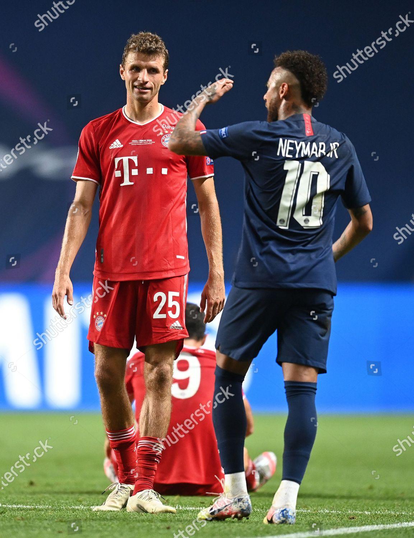 Thomas Muller FC Bayern Munich looks on Editorial Stock Photo - Stock Image