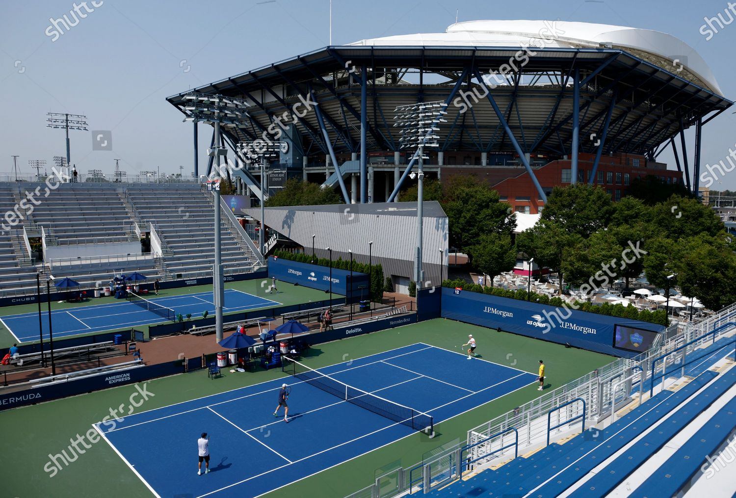 Stock photo of Western and Southern Open in USA, Flushing Meadows - 27 Aug 2020