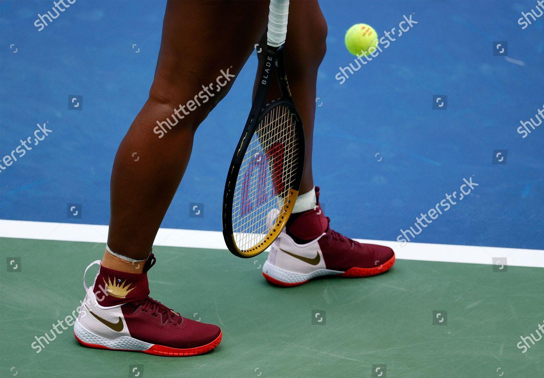 Serena Williams US tennis shoes seen