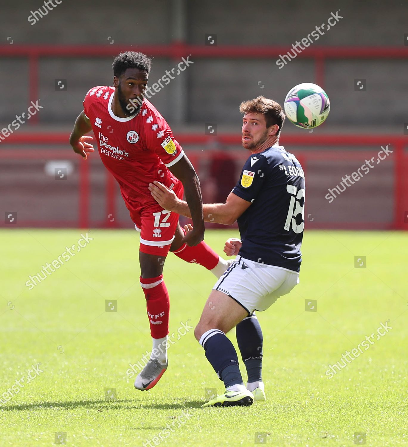 action kerst 2020 Crawley Towns Nathan Ferguson action during EFL Editorial Stock