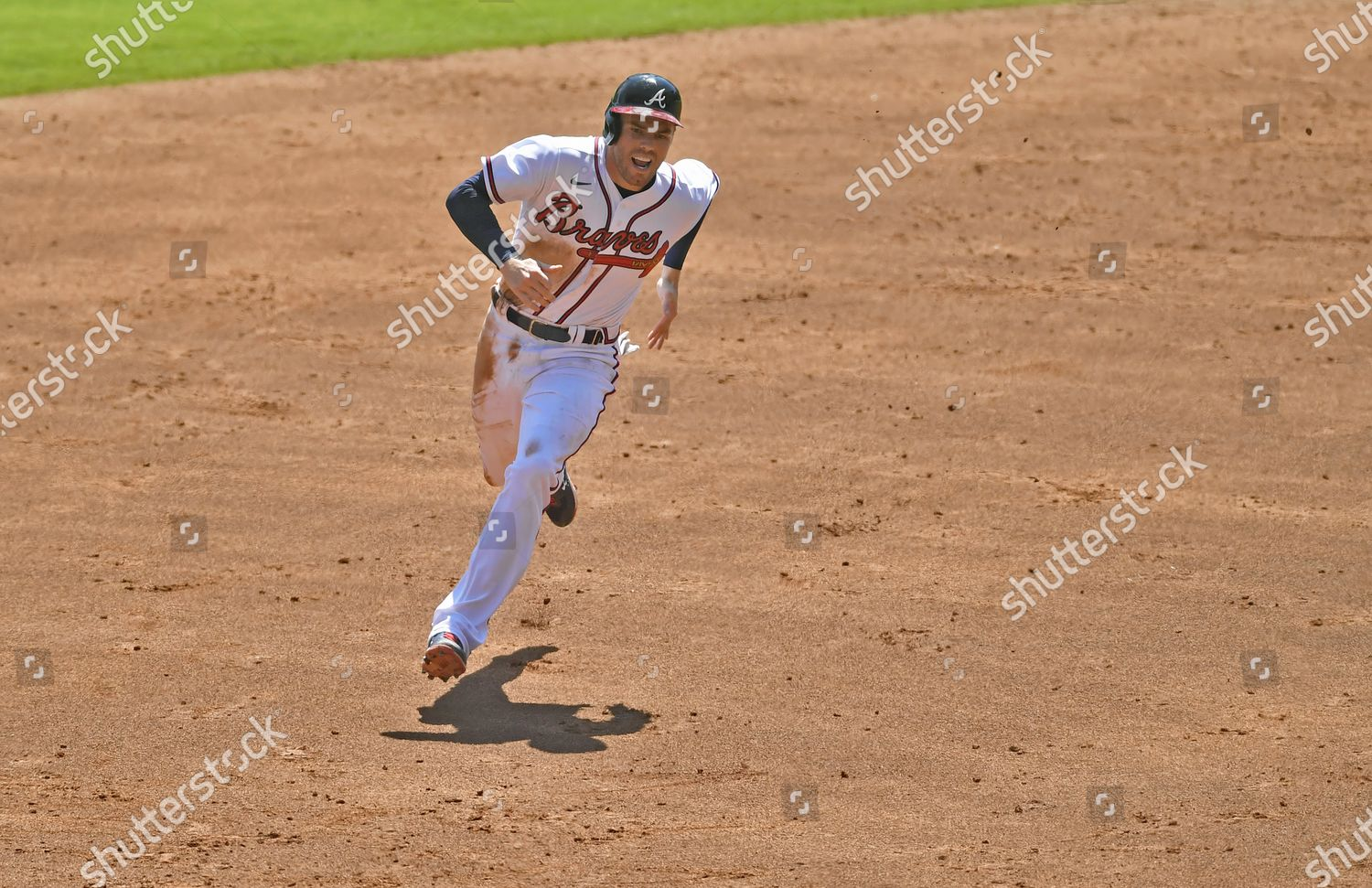 Braves First Baseman Freddie Freeman Heads Towards Editorial Stock Photo Stock Image Shutterstock