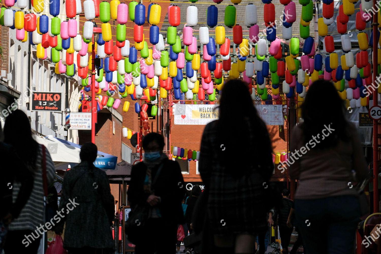 Love Chinatown Campaign Multicoloured Lanterns Replace Traditional Editorial Stock Photo Stock Image Shutterstock
