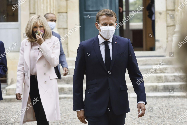 French President Emmanuel Macron Brigitte Macron Wearing Editorial Stock Photo Stock Image Shutterstock