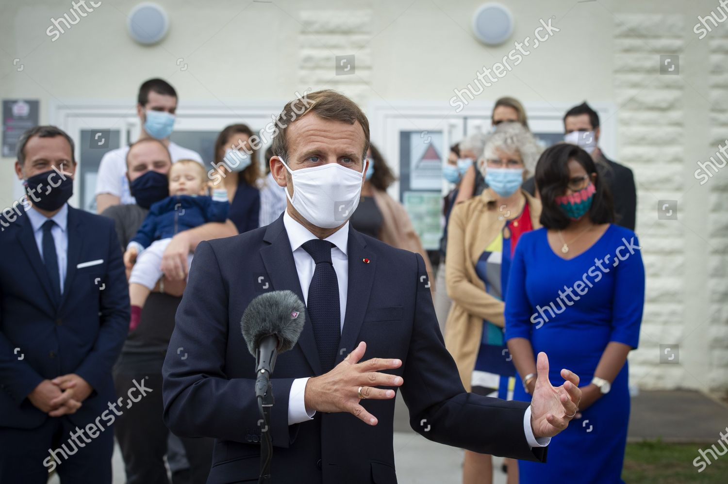 French President Emmanuel Macron Visits Pmi Mother Editorial Stock Photo Stock Image Shutterstock