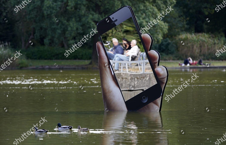 Stock photo of Media Art Festival at Karlsruhe castle garden, Germany - 28 Sep 2020