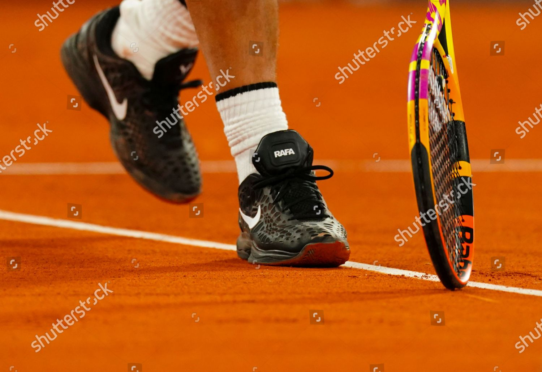 Rafa Nadal Nike Tennis Shoes On Clay Editorial Stock Photo Stock Image Shutterstock