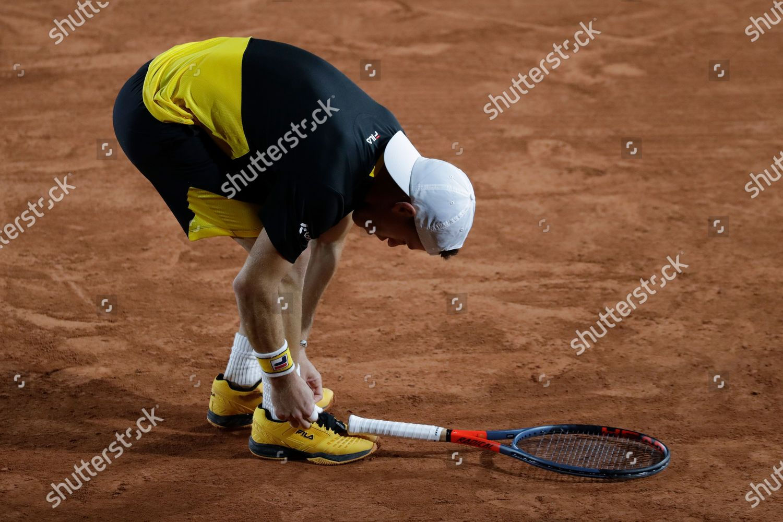 Argentinas Diego Schwartzman Ties His Shoe Laces Editorial Stock Photo Stock Image Shutterstock