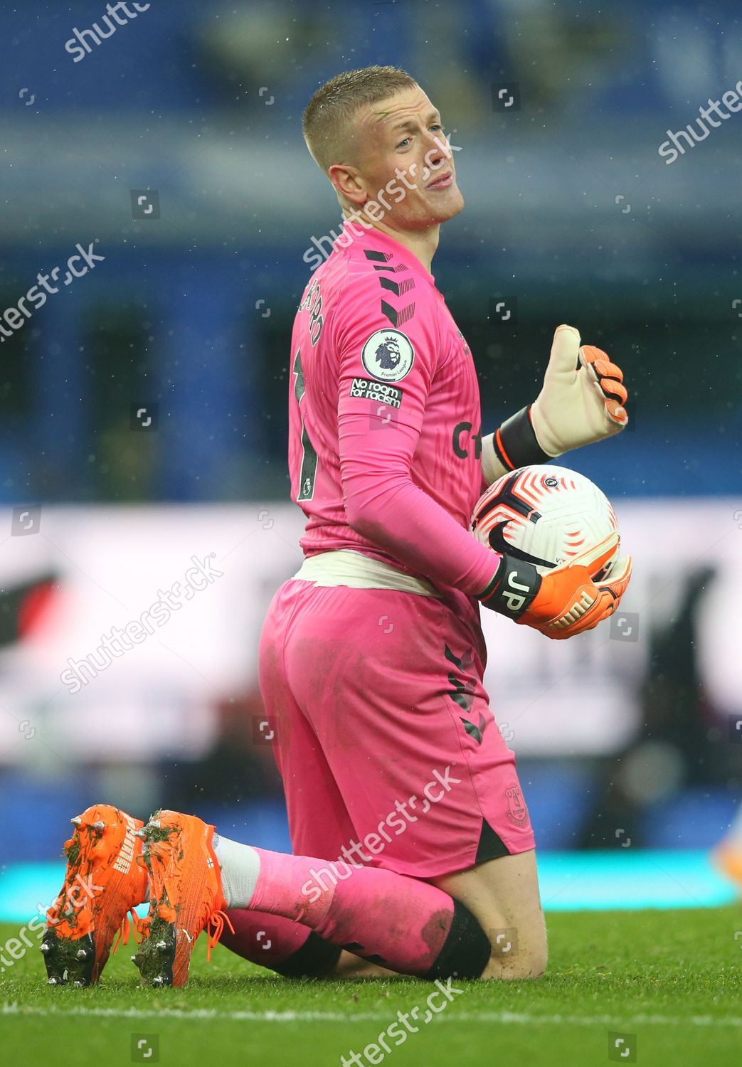 Jordan Pickford Everton Reacts During English Premier Editorial Stock Photo Stock Image Shutterstock