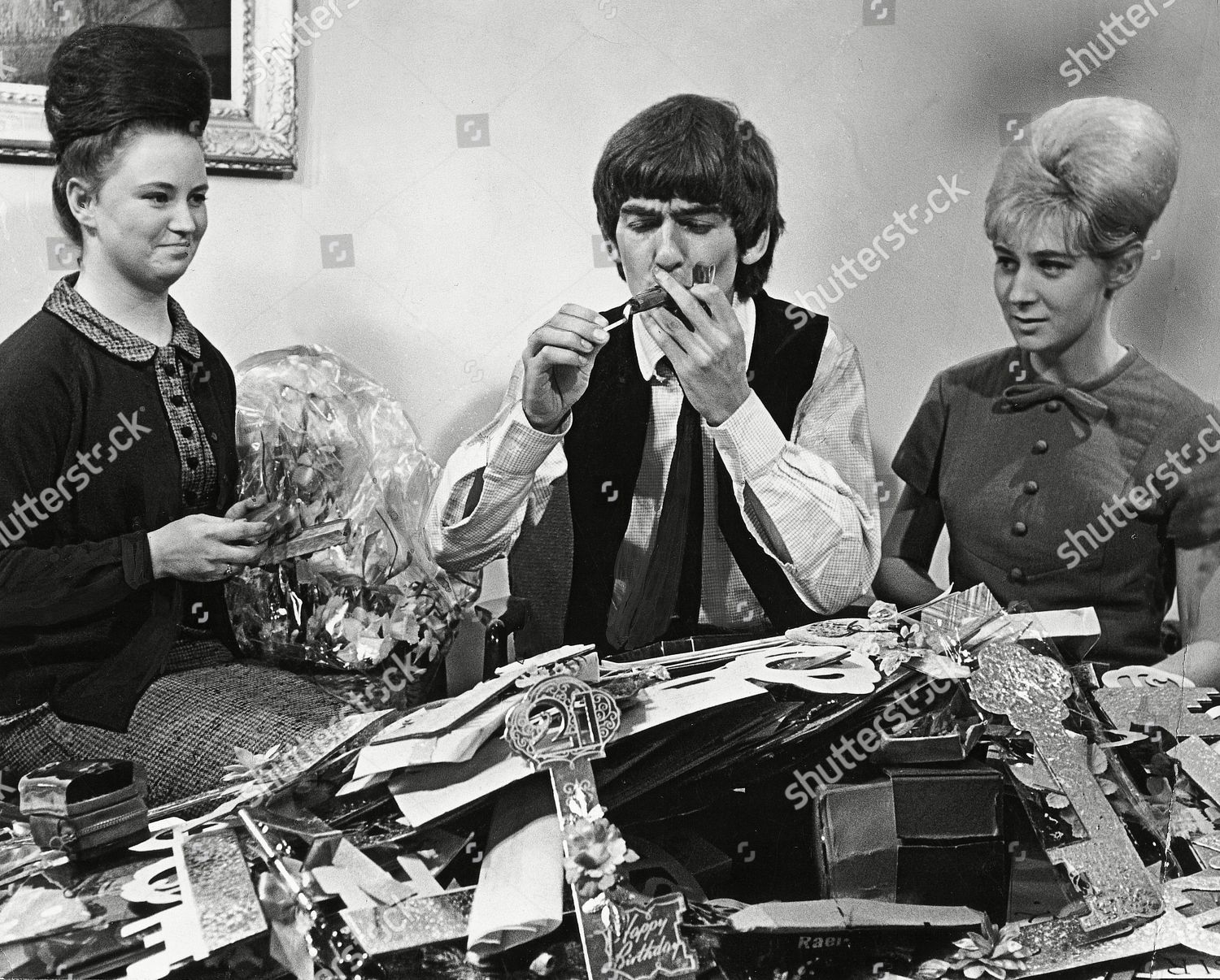 ... Secretaries Of The Beatles Fan Club And Cards He Received From Fans For His 21st Birthday. The Beatle Was Sent An Estimated 15 000 Cards And Gifts.