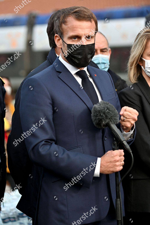French President Emmanuel Macron During Visit Breil Editorial Stock Photo Stock Image Shutterstock