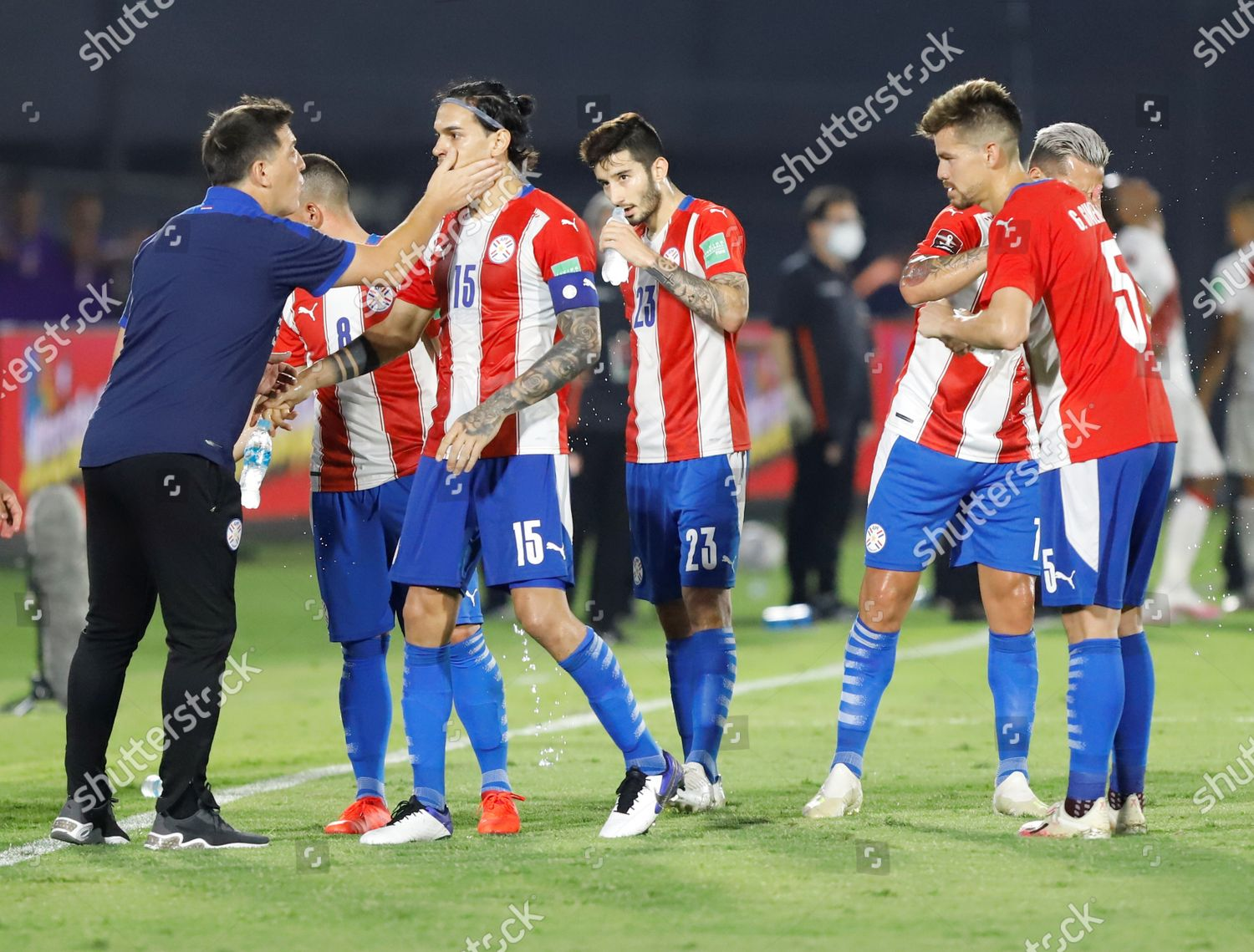 Paraguays Head Coach Eduardo Berizzo L Celebrates Editorial Stock Photo Stock Image Shutterstock