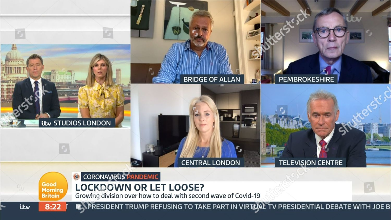 Stock photo of 'Good Morning Britain' TV Show, London, UK - 09 Oct 2020