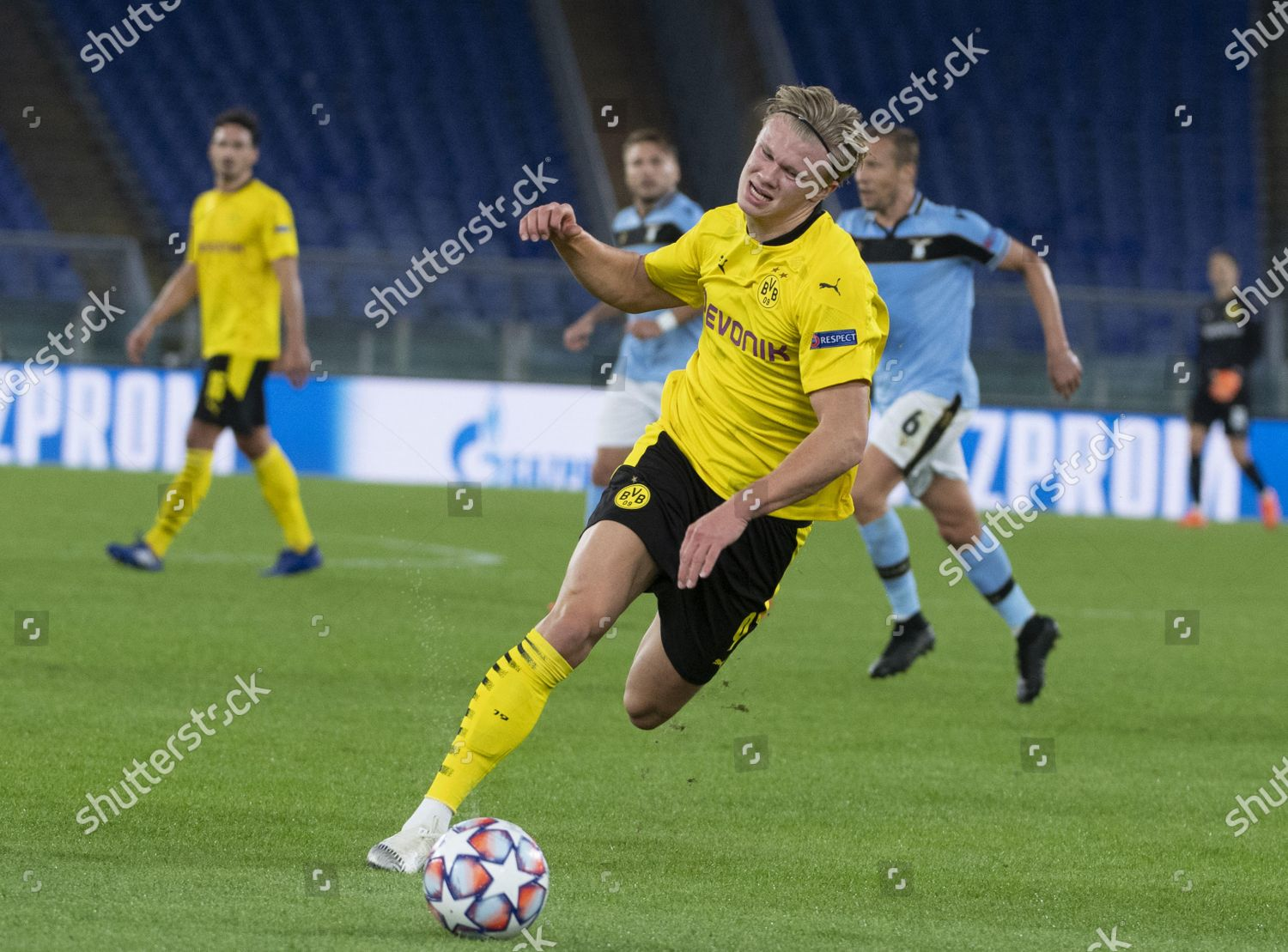 Erling Haaland Borussia Dortmund Action During Uefa Editorial Stock Photo Stock Image Shutterstock