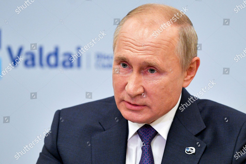 Russian President Vladimir Putin Speaks He Participates Editorial Stock Photo Stock Image Shutterstock