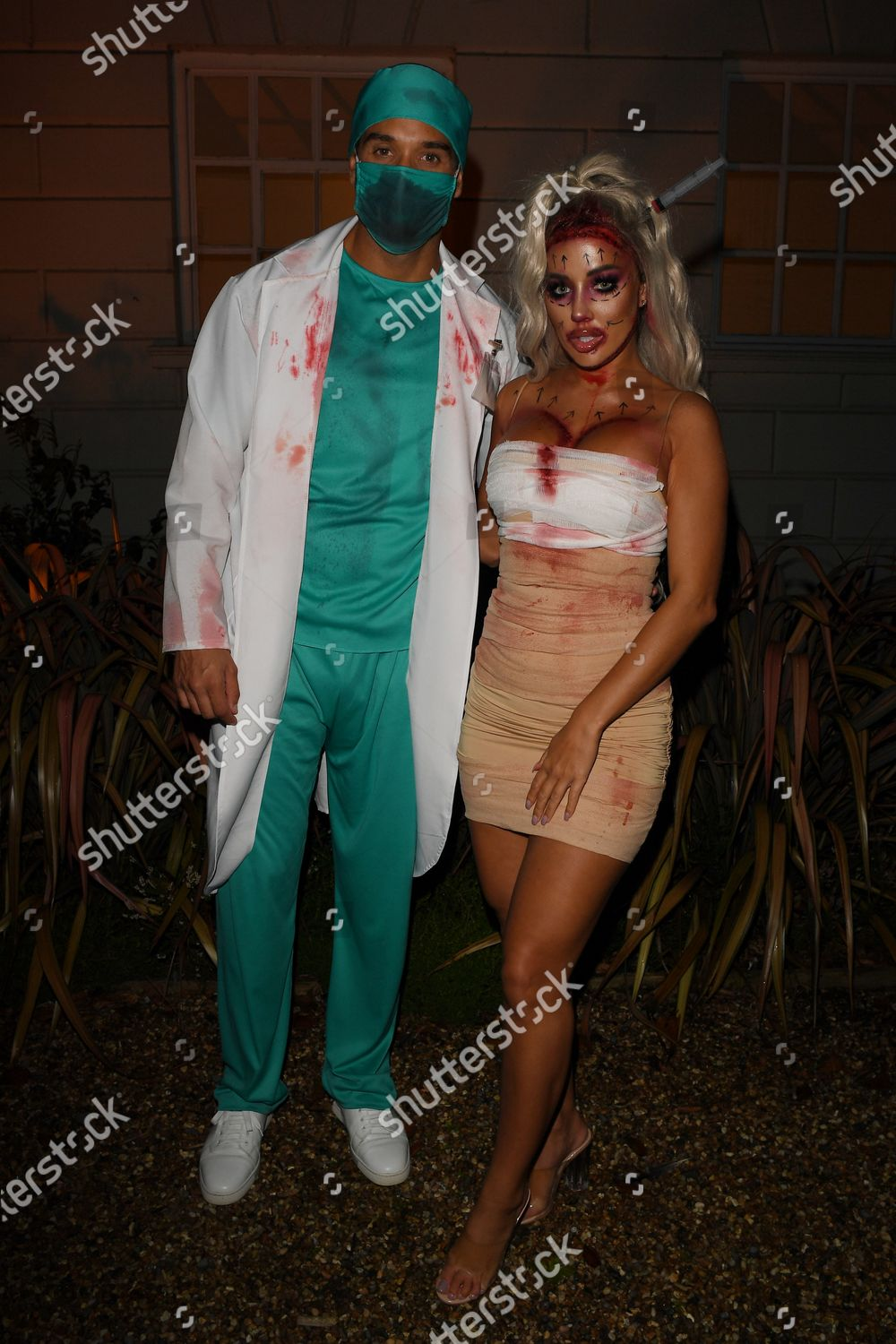 Stock photo of Exclusive - 'The Only Way is Essex' TV show filming, Halloween Special, Essex, UK - 25 Oct 2020