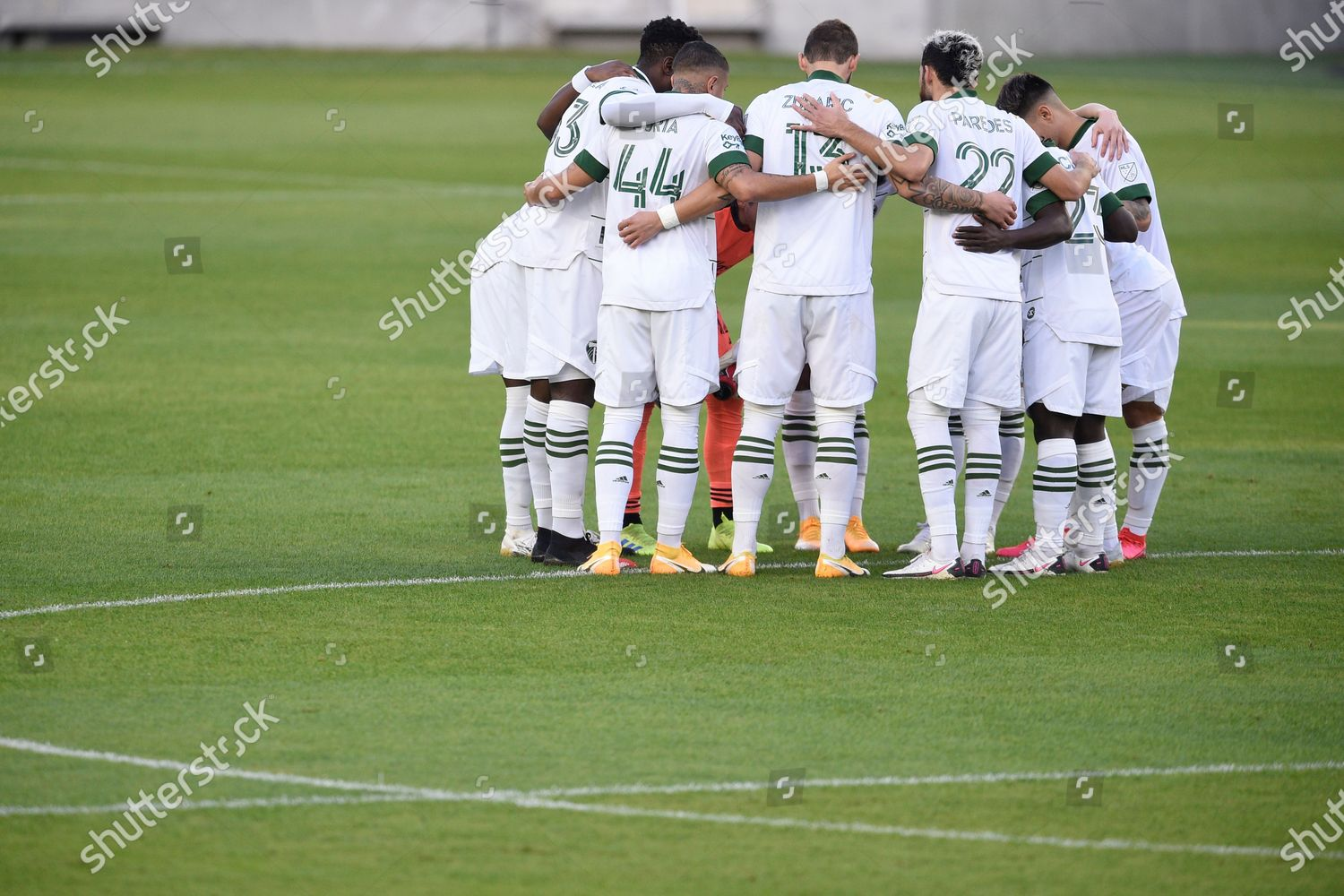 Portland Timbers Huddle Before Mls Soccer Match Editorial Stock Photo Stock Image Shutterstock