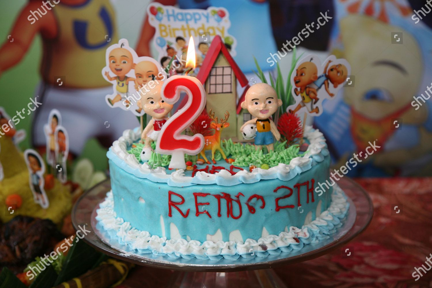 Birthday Cake Celebration Childs Birthday Party Jatiwaringin Editorial Stock Photo Stock Image Shutterstock
