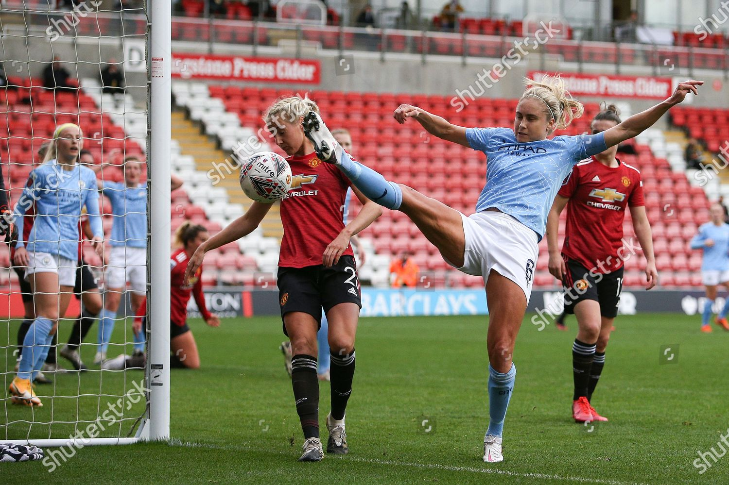 Stock photo of Manchester United Women v Manchester City Women, FA Women's Super League - 14 Nov 2020