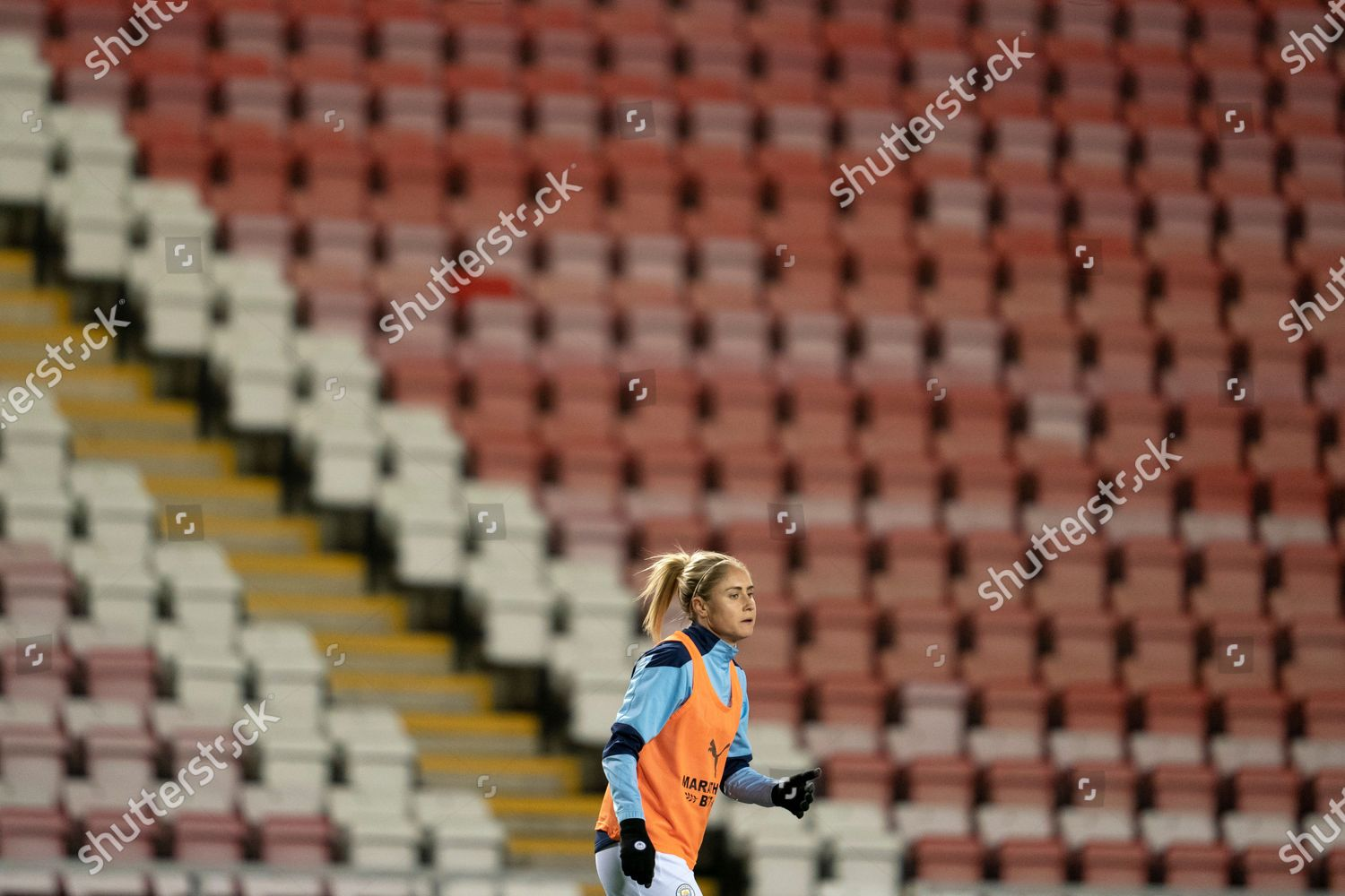 Stock photo of Manchester United Women v Manchester City Women, The FA Women's League Cup, Football, Leigh Sports Village, Manchester, UK - 19 Nov 2020