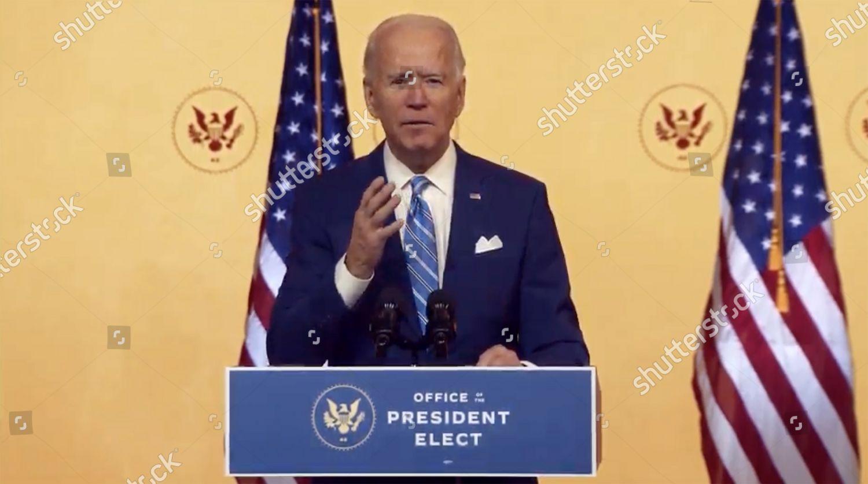 United States Presidentelect Joe Biden delivers Thanksgiving Editorial  Stock Photo - Stock Image | Shutterstock