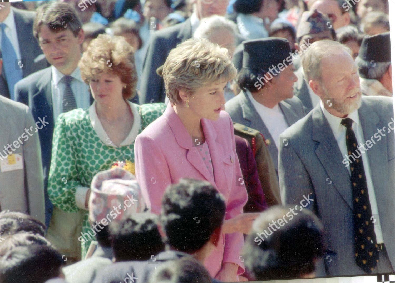 Princess Diana Visit Nepal March 1993 Diana Editorial Stock Photo