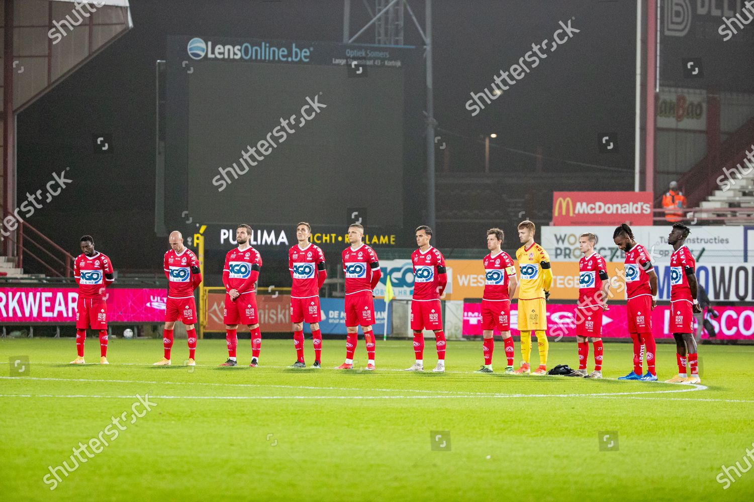 Kortrijks Players Pictured During One Minute Silence Editorial Stock Photo Stock Image Shutterstock