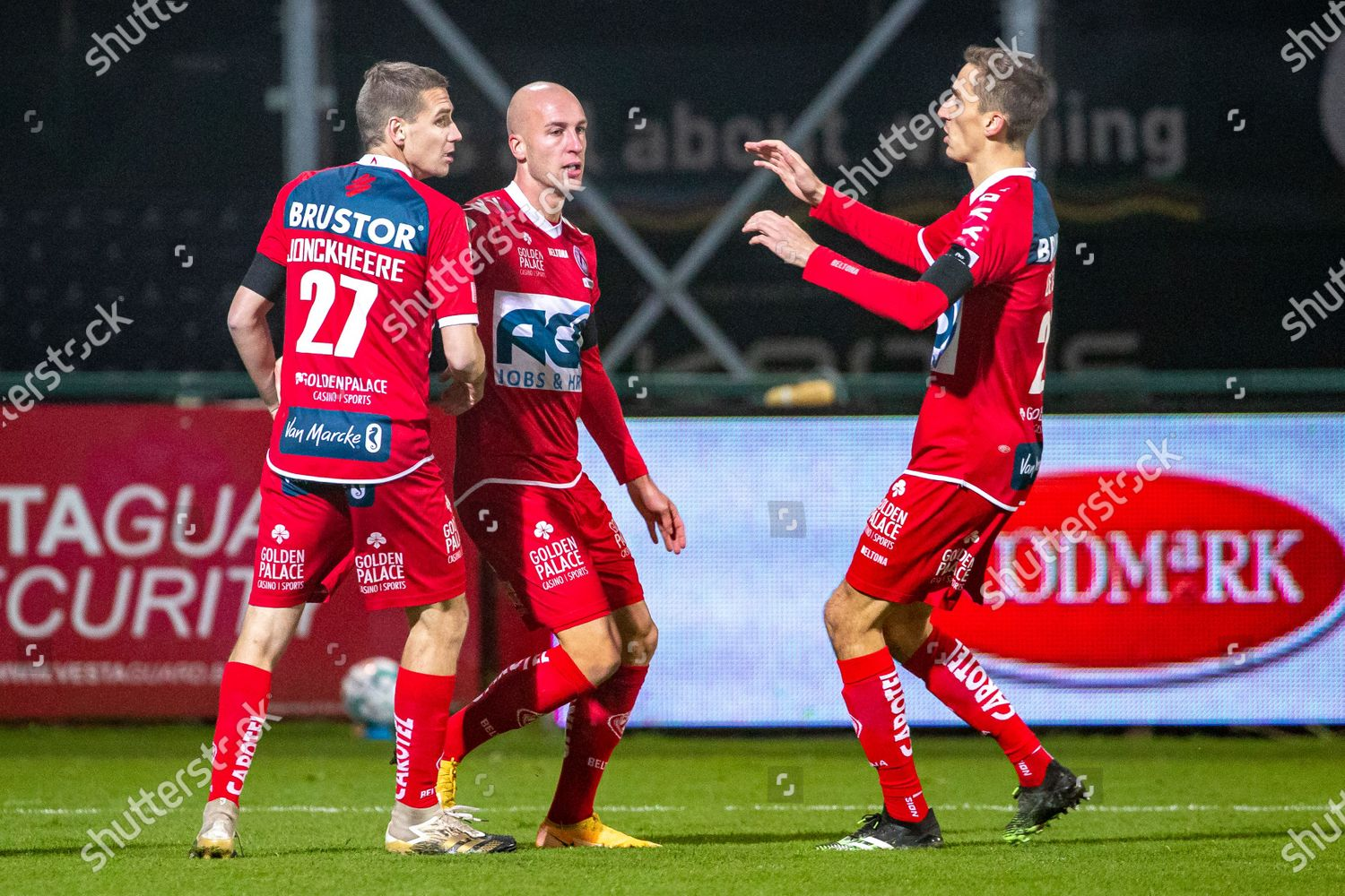 Kortrijks Gilles Dewaele Celebrates After Scoring During Editorial Stock Photo Stock Image Shutterstock
