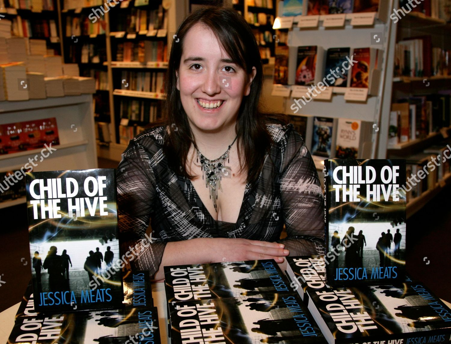 Photo libre de droits de 'Child Of The Hive' Jessica Meats Book Promotion, Waterstones, Reading, Britain - 13 Feb 2010