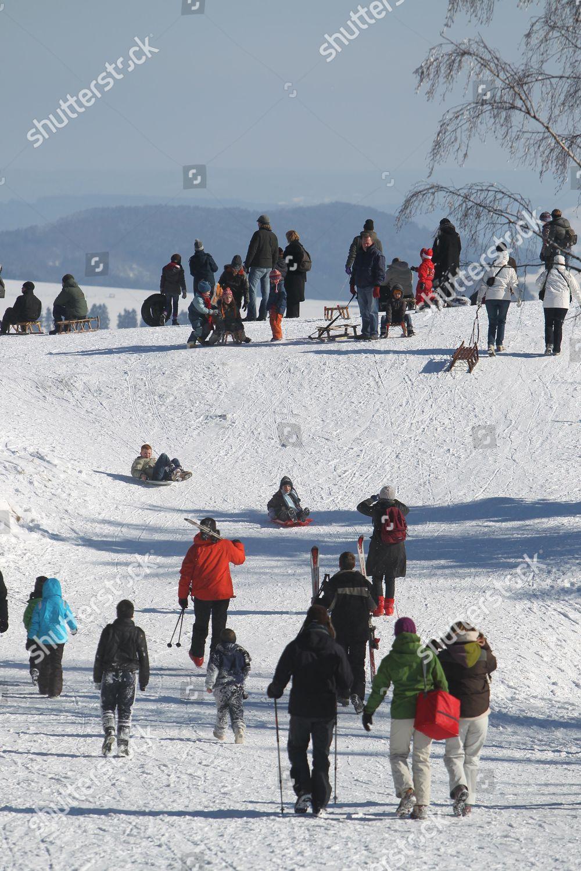 People Enjoying Snow Belgian Ski Resort La Editorial Stock Photo Stock Image Shutterstock