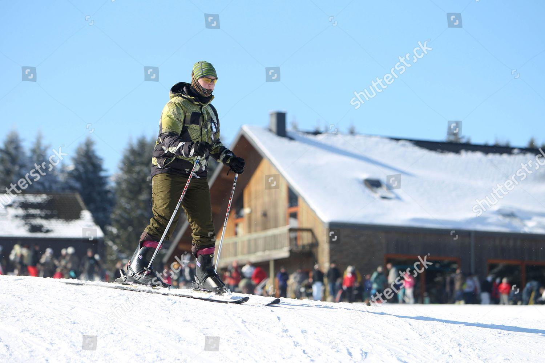 Snow Ski Resort La Baraque Fraiture Belgium Editorial Stock Photo Stock Image Shutterstock