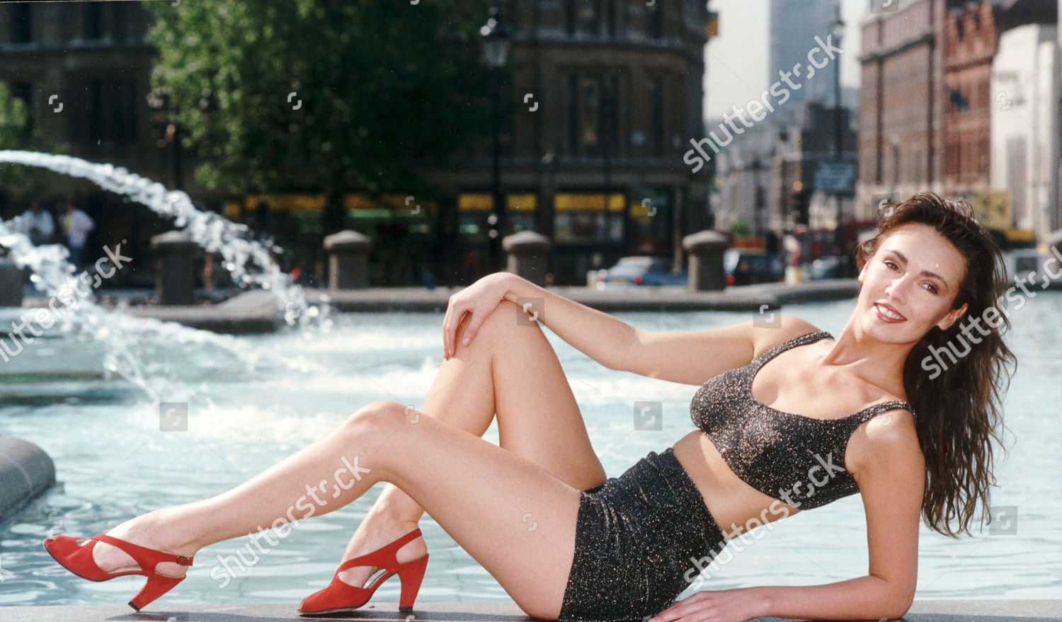 London Page 3 >> Former Page 3 Model Kathy Lloyd Pictured Editorial Stock
