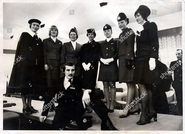 Aviation Britain British Airways ba Air Hostesses Editorial