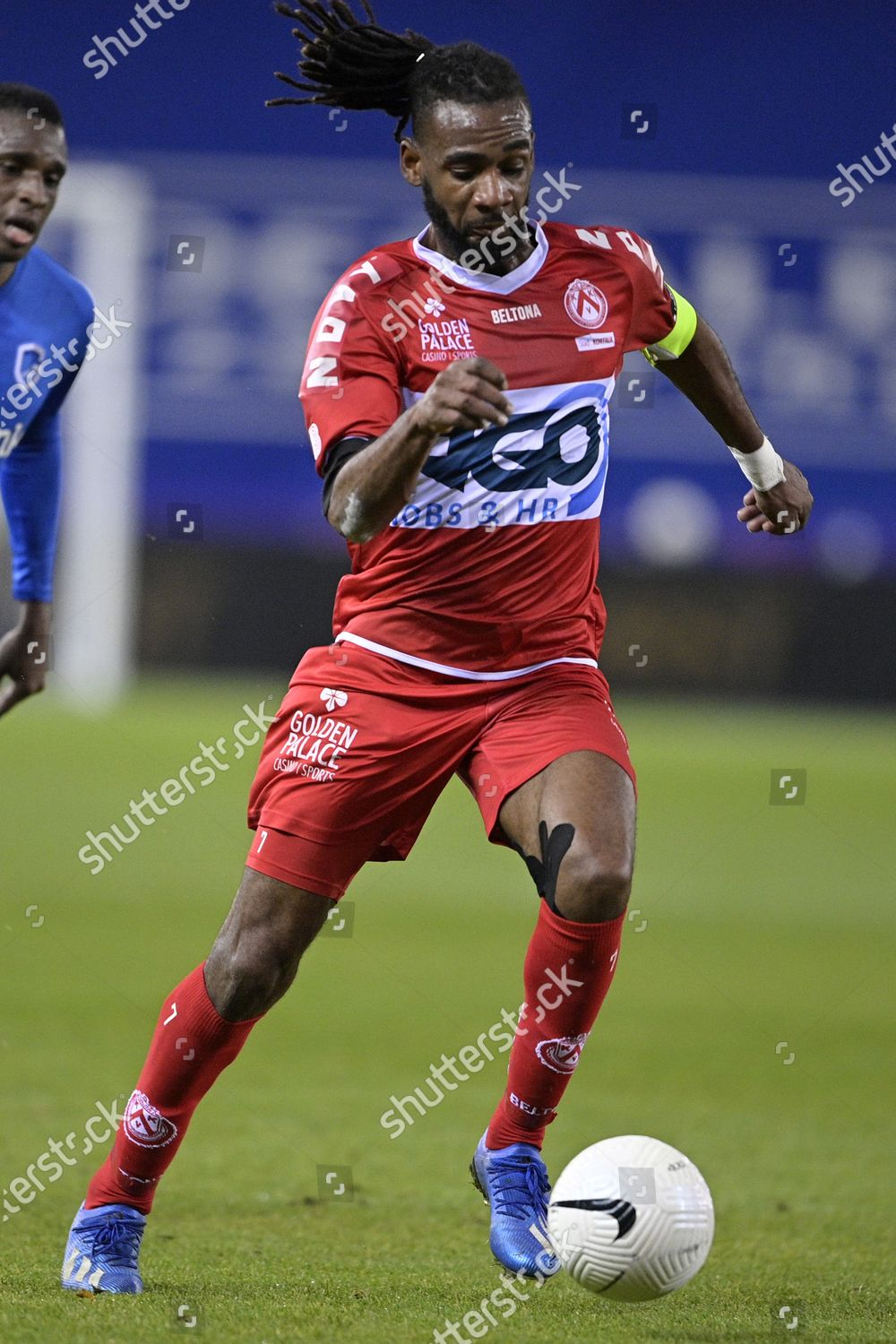 Kortrijks Ilombe Mboyo Pictured Action During Soccer Editorial Stock Photo Stock Image Shutterstock