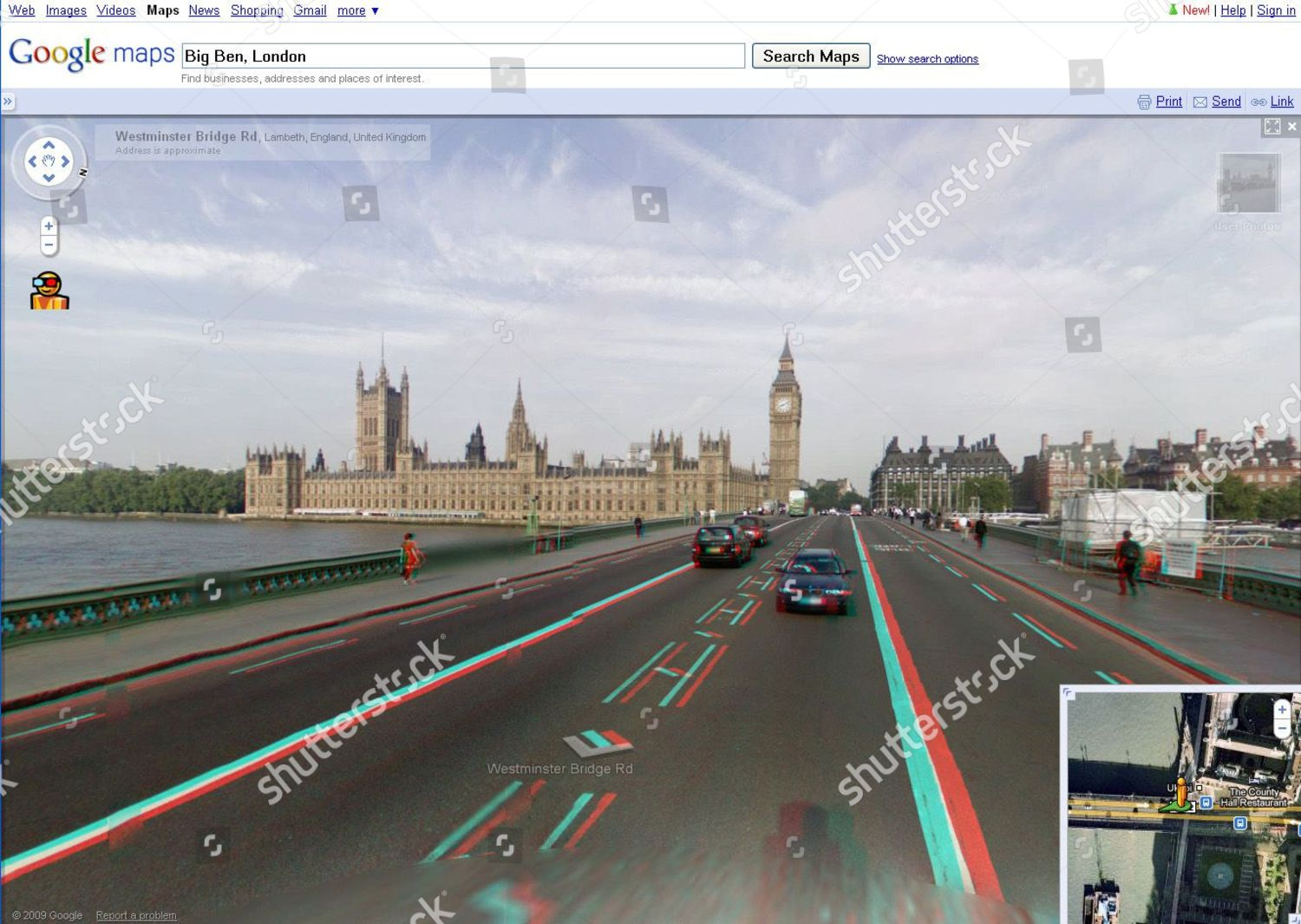 Google Maps Streetview Shows Option 3d Viewing Editorial Stock
