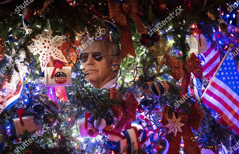 Christmas Day In Dc 2021 Ornament Shape Presidentelect Joe Biden Seen On Editorial Stock Photo Stock Image Shutterstock