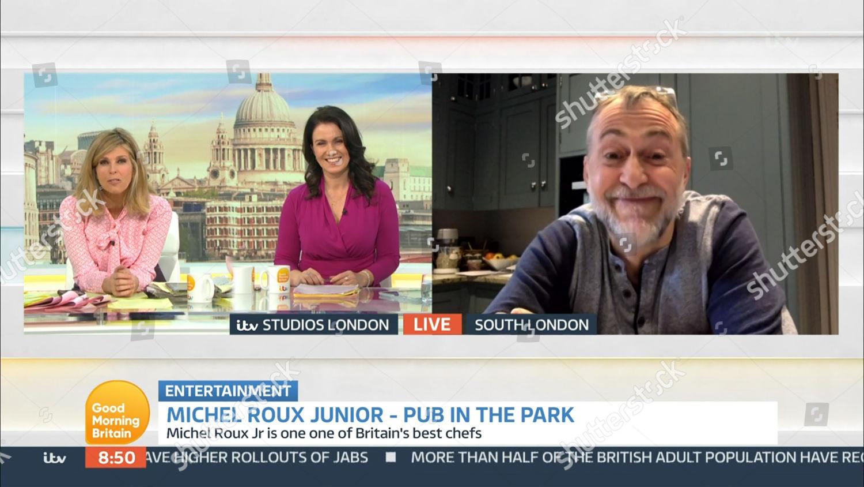 Stock photo of 'Good Morning Britain' TV Show, London, UK - 18 Mar 2021