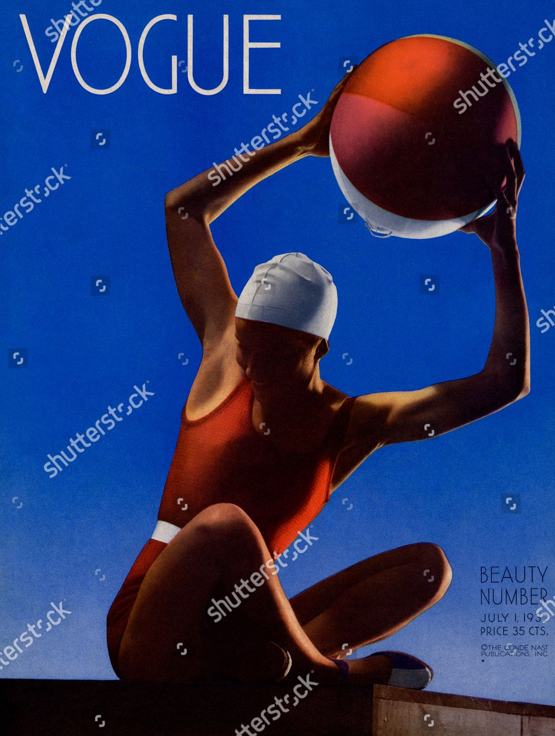 Stock photo of Vogue July 01, 1932 Cover