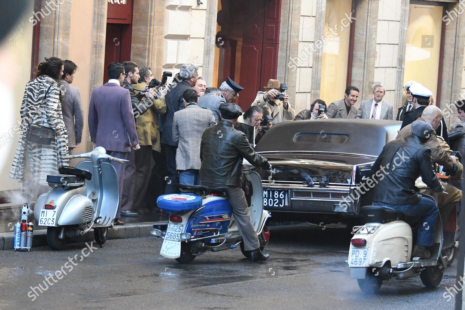 Stock photo of 'House of Gucci' film shooting, Rome, Italy - 22 Mar 2021