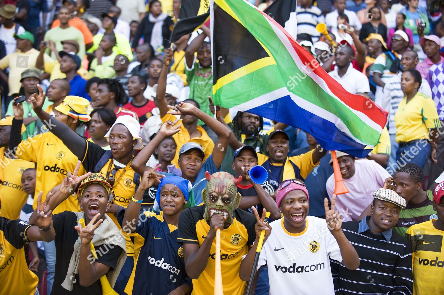 football fans during game between Kaizer Chiefs Editorial Stock ...