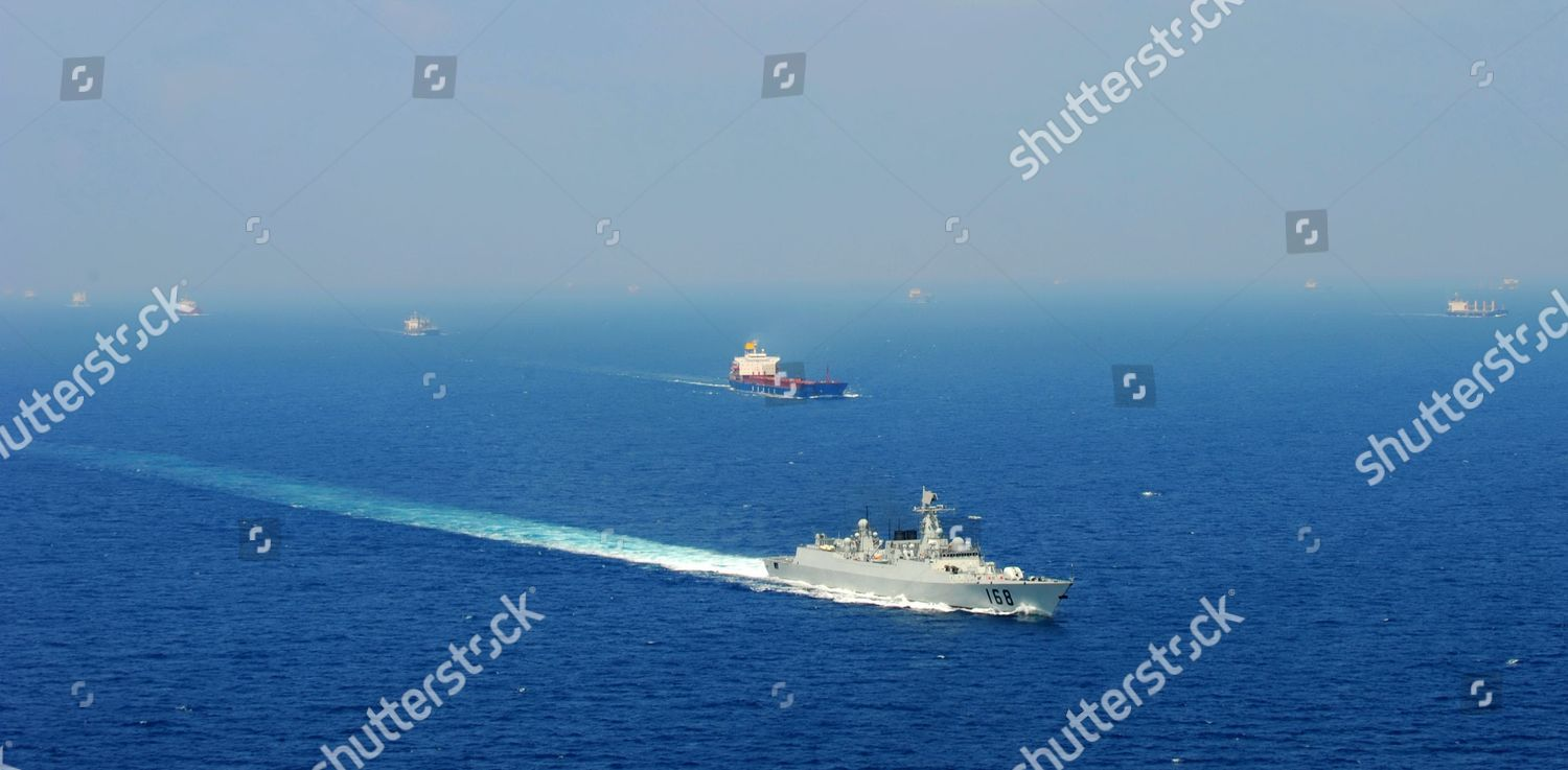 Chinese ship patrols Gulf Aden pirates Editorial Stock Photo