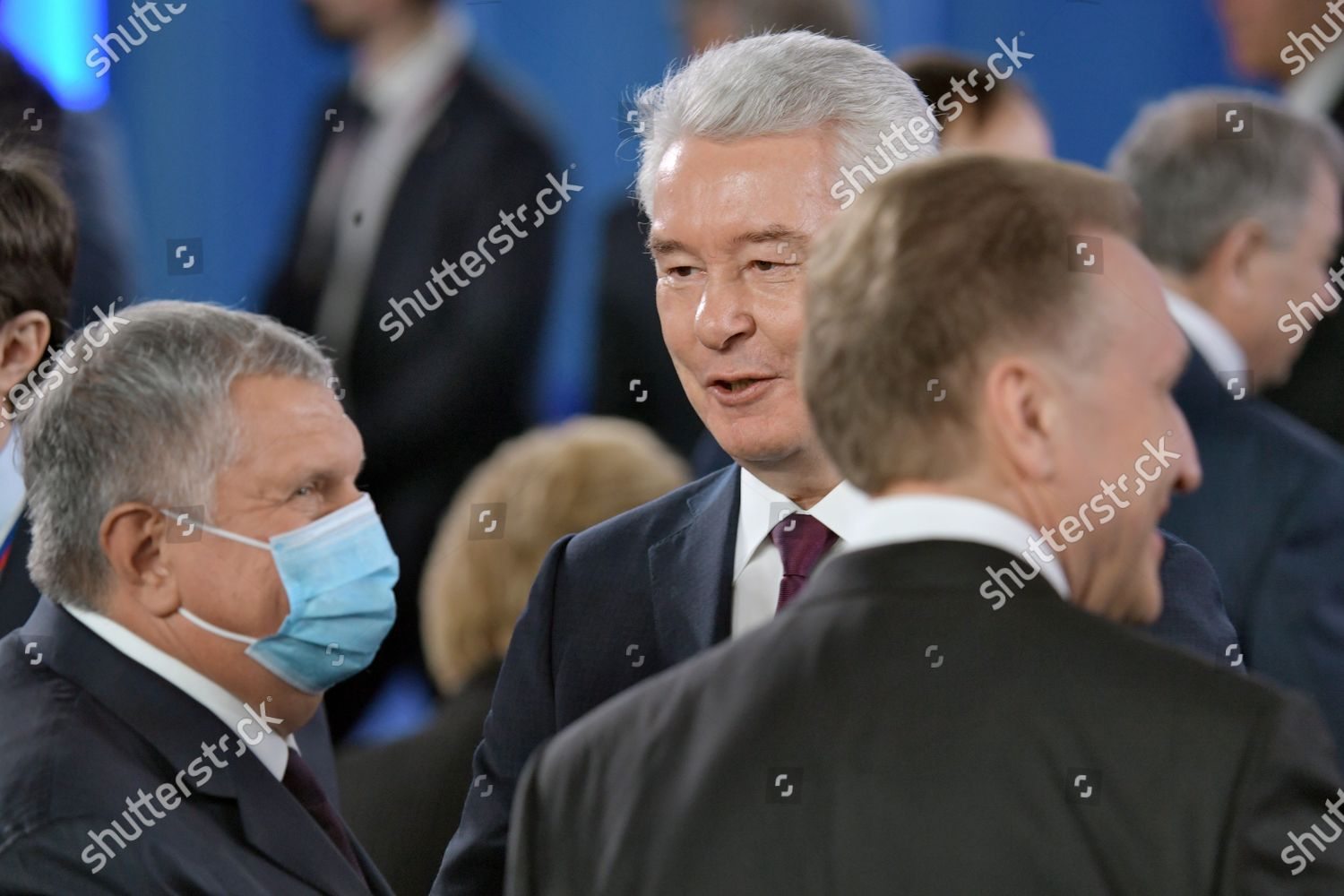 Stock photo of Annual Address of Russian President Vladimir Putin to the Federal Assembly, Manezh Central Exhibition Hall, Moscow, Russia - 21 Apr 2021