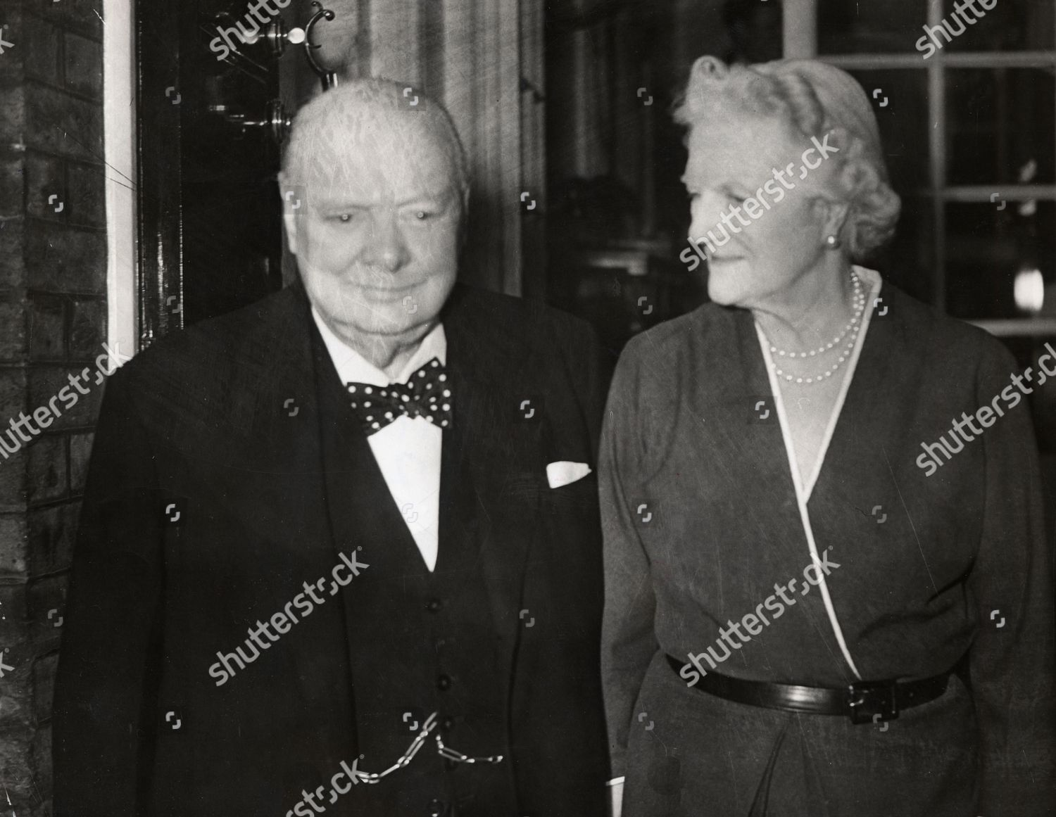 Sir Winston Churchill Seen His Wife Clementine Editorial