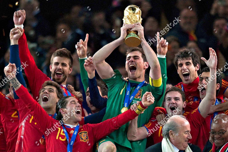 340621c5809 Spain goalkeeper captain Iker Casillas lifts World Editorial Stock ...