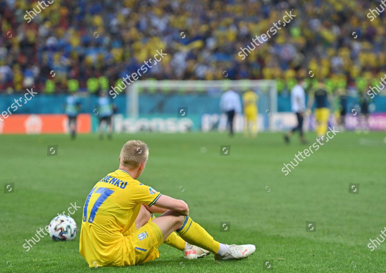 Oleksandr Zinchenko Ukraine reacts after losing UEFA Editorial Stock Photo - Stock Image ...
