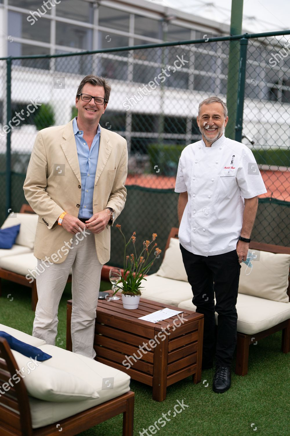Stock photo of Carlo Carello hosts lunch at The Lawn with Keith Prowse, Wimbledon Championships, London, UK - 29 Jun 2021