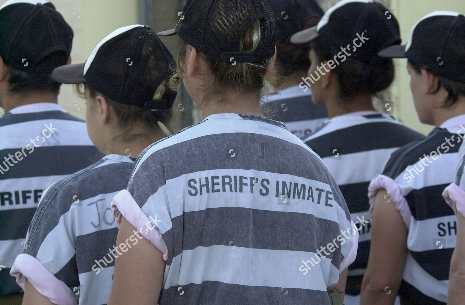 Female chain gang prisoners Maricopa County Jail Editorial Stock